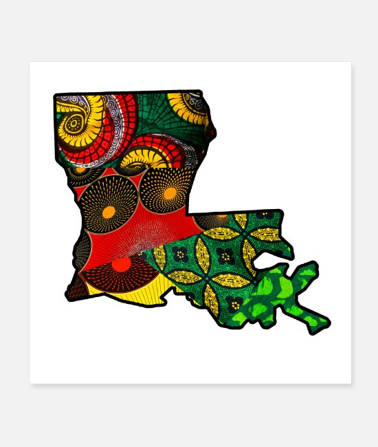 New Posters - African Fabric Reggae Rasta themed Louisiana State - Posters white