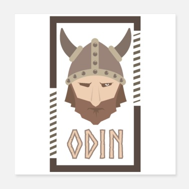 Odin Odin Vikings Viking Gift Idea - Poster