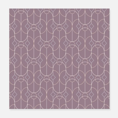 Decoration Contemporary Bowed Symmetry in Musk Mauve - Poster
