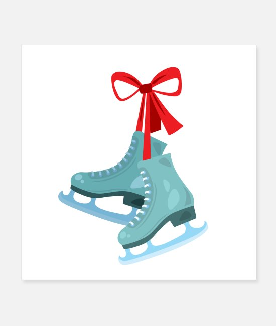 Vacation Posters - Pair of ice skates with - Posters white