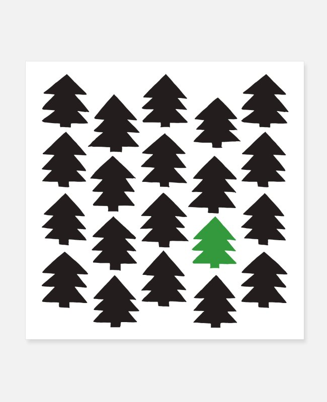 Pattern Posters - Pine forest white - Posters white
