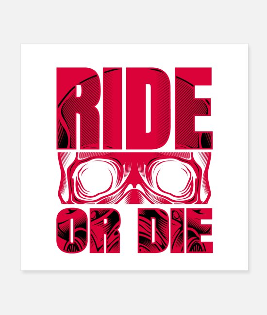 Quad Posters - RIDE OR DIE!!! - Posters white