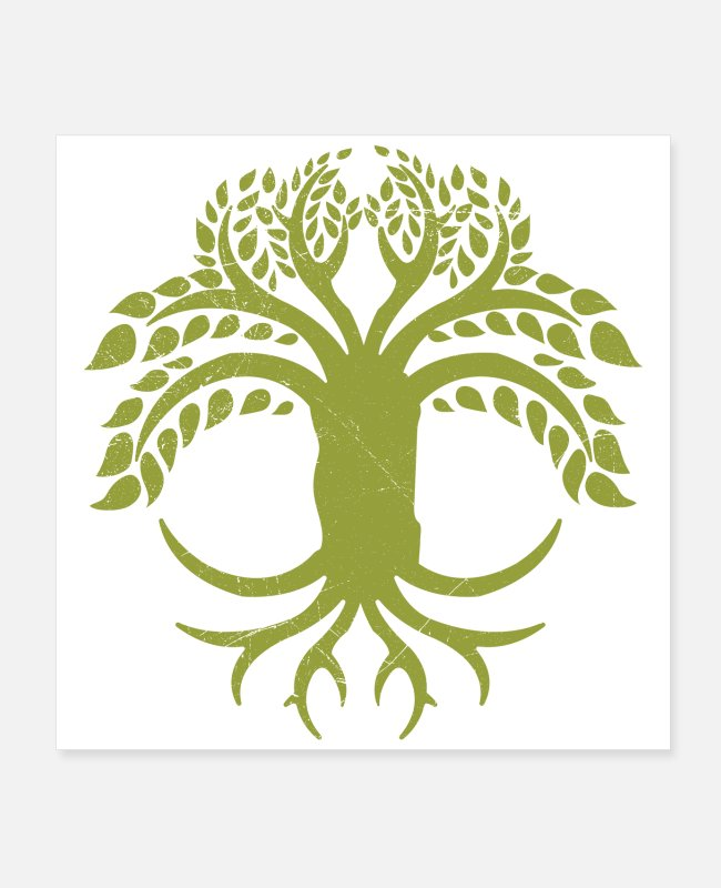 Wisdom Posters - Celtic Symbols Tree Of Life Gift Idea - Posters white