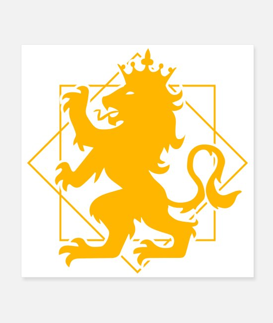 Heraldry Posters - Knight Lion Crest heraldry Gift Idea - Posters white