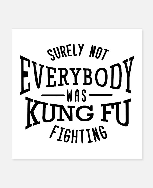 Not Perfect Posters - surely not everybody was kung fu fighting origin - Posters white