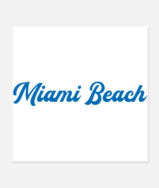 East Coast Posters - MIAMI BEACH - Posters white