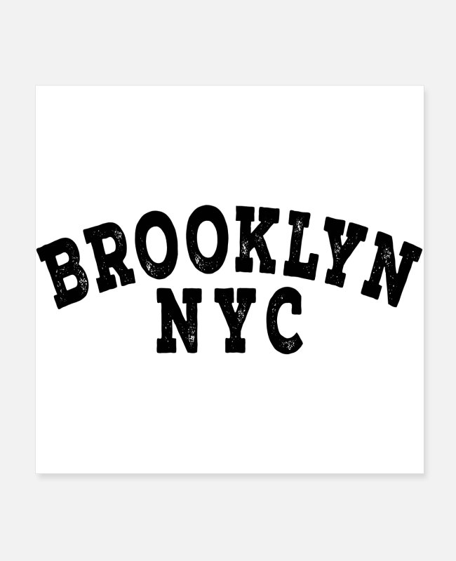 New York City Posters - Brooklyn - Posters white