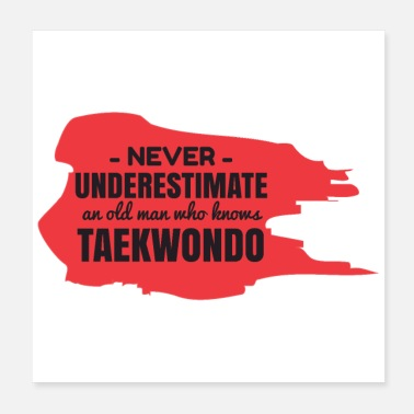 Taekwondo Never Underestimate An Old Man Who Knows Taekwondo - Poster