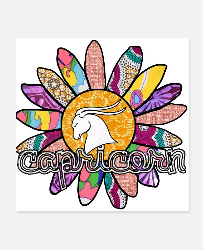 Garden Posters - Capricorn Pink Retro Flower - Posters white