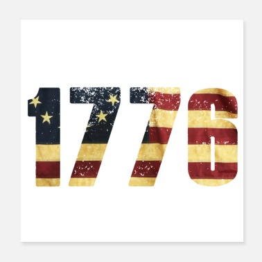 American betsy ross battle 1776 Flag - Patriotic American - Poster