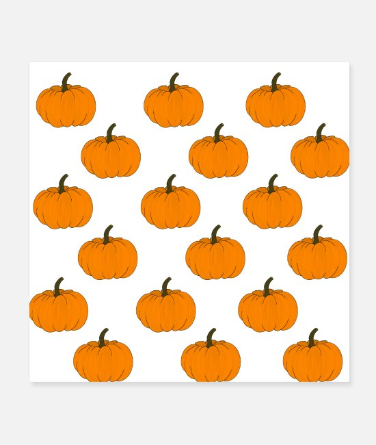 Pattern Posters - pumpkin - Posters white