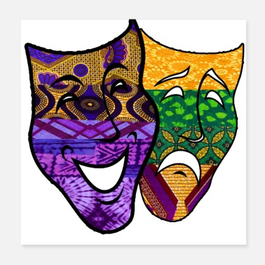 Comedy Mardi Gras Tragedy Comedy Mask - Poster