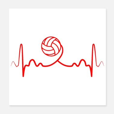 Volley Heartbeat Volleyball Funny Gift Idea - Poster