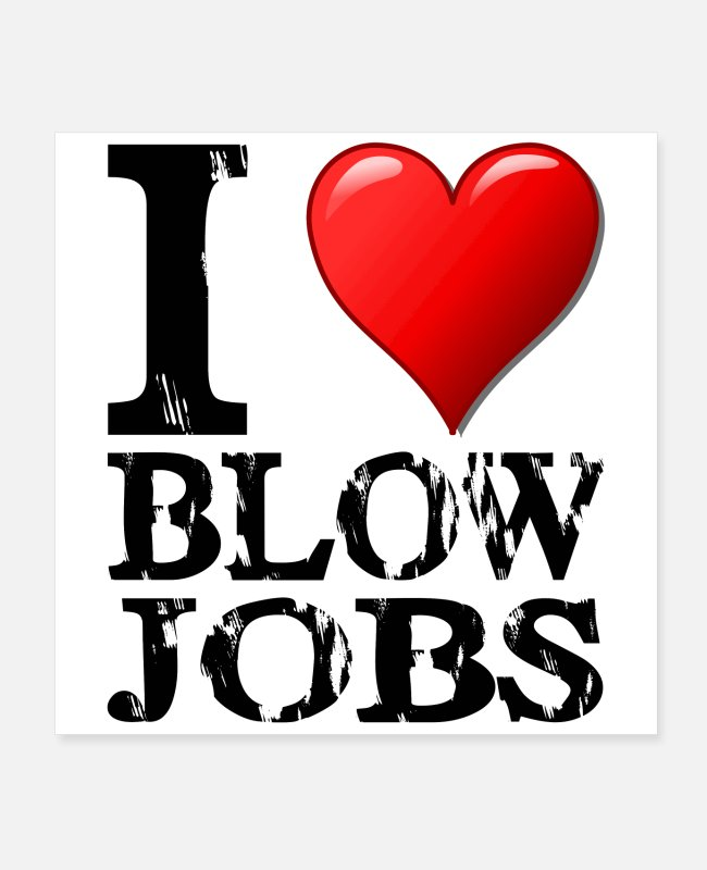 Husband Posters - I Love Blowjobs Design schwarz - Posters white