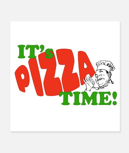 Pizza Posters - PIZZA TIME Retro Design - Posters white