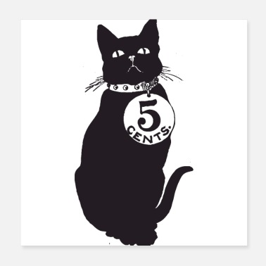 Catalan 5 Cent cat - Poster