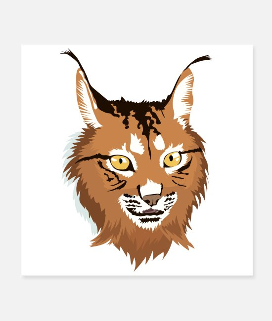 Wild Cat Posters - Cat Lynx Cat Lover Gift Idea - Posters white