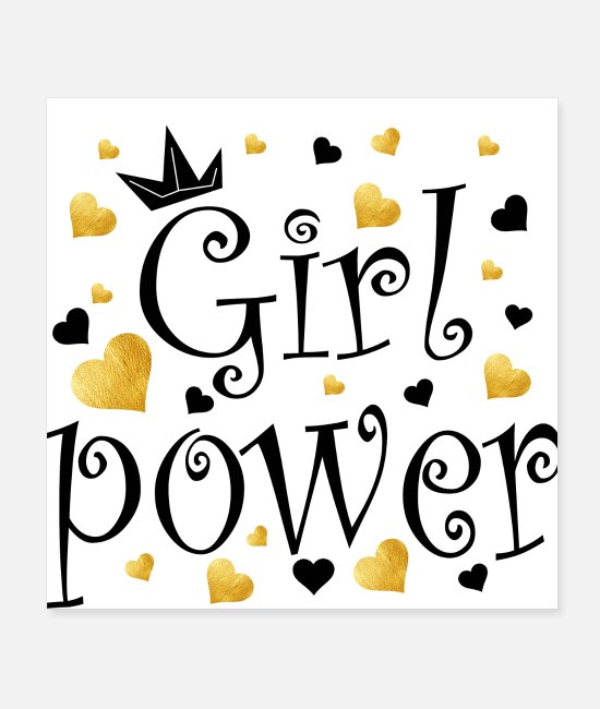 Power Ballads Posters - Girl Power T-Shirt - Posters white