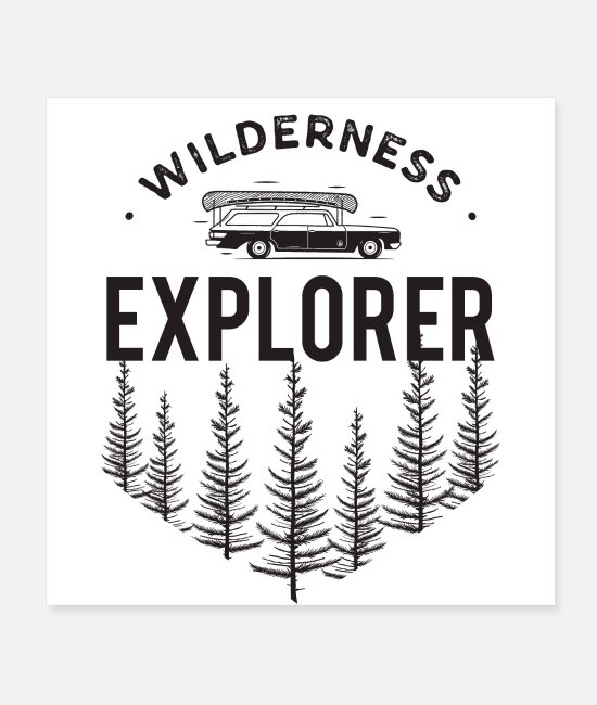 Logbook Posters - Wilderness Explorer - Posters white