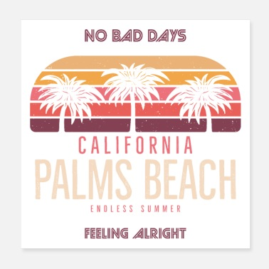 Beach Volleyball Palms Beach - Poster