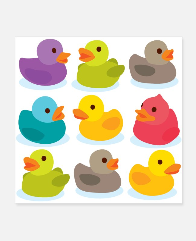 Rubber Duck Posters - More rubber ducks to the people! - Posters white