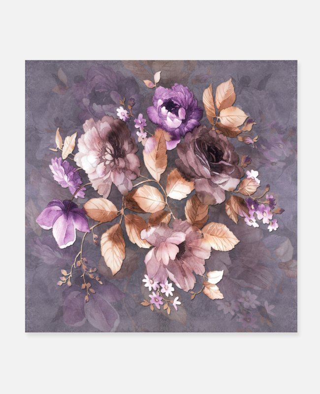 Floral Designs Posters - Vintage Mauve Wallflowers - Posters white