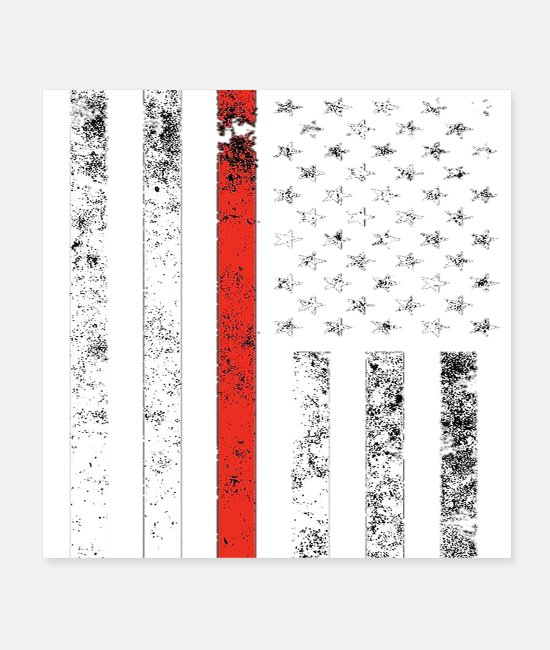 Usa Posters - Flag of the United States - Posters white