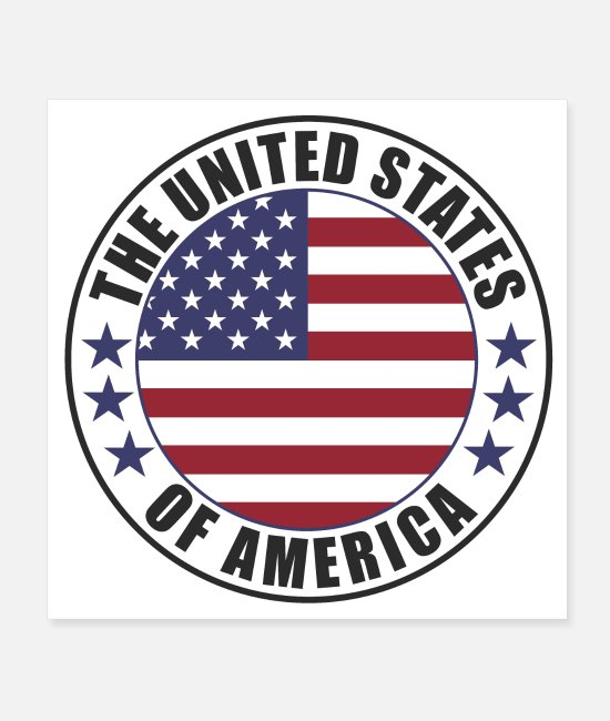 States Posters - The United States of America - USA - Posters white