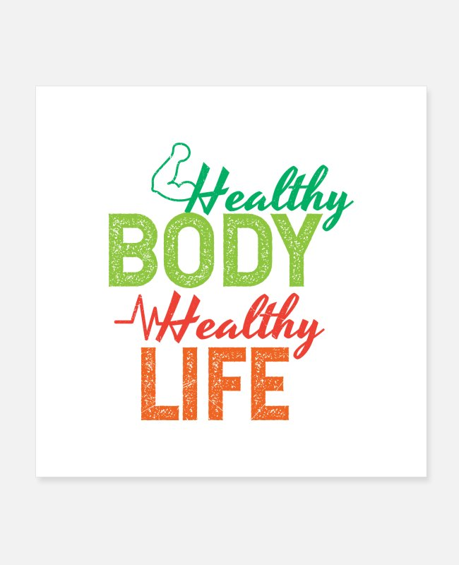 Vegetables Posters - Health Healthy Body Healthy Life Funny Gift Idea - Posters white
