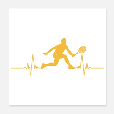 Wimbledon Heartbeat Tennis Player Hobby Funny Gift Idea - Poster