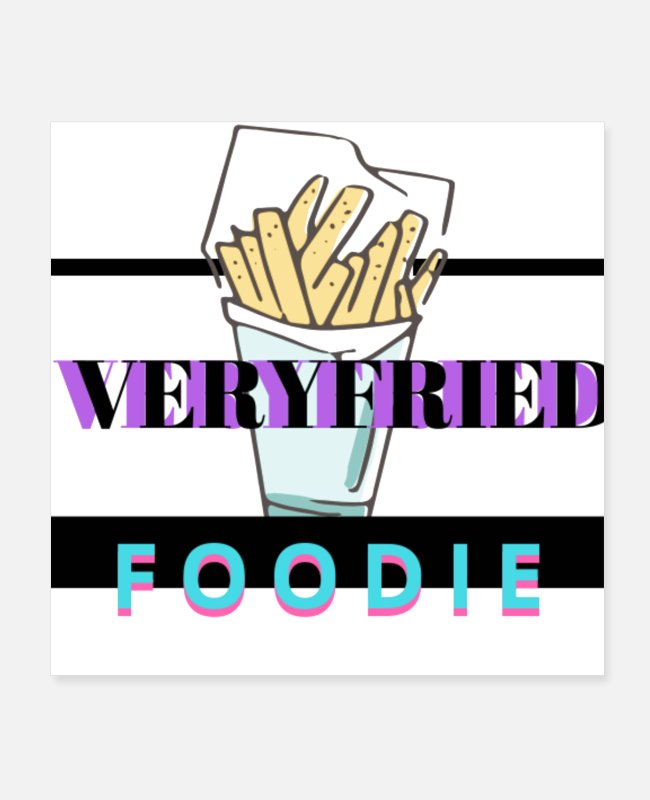 Burger Posters - Verified foodie - Posters white