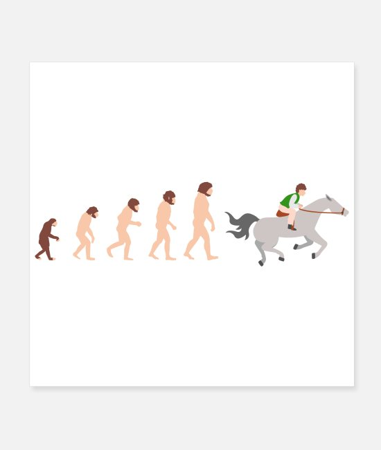 Pilot Posters - Evolution Horse Riding Funny Gift Idea - Posters white