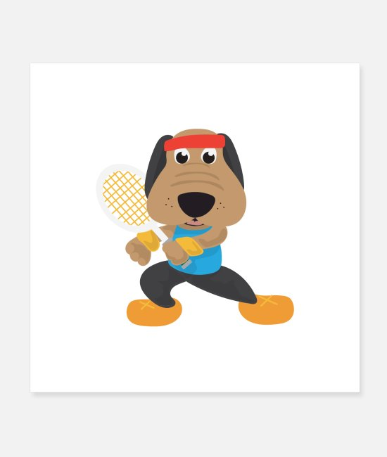 Tennis Trainer Posters - Hobby Tennis Dog Tennis Player Gift Idea - Posters white