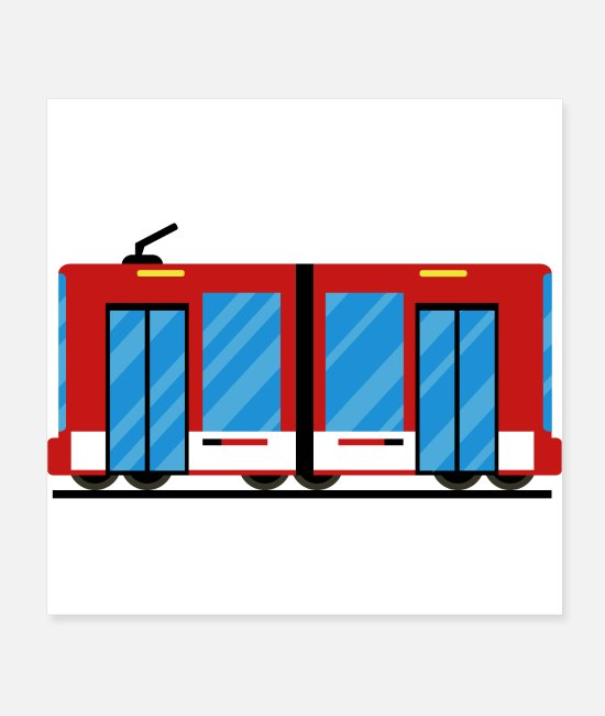 Training Posters - Tram, train - Posters white
