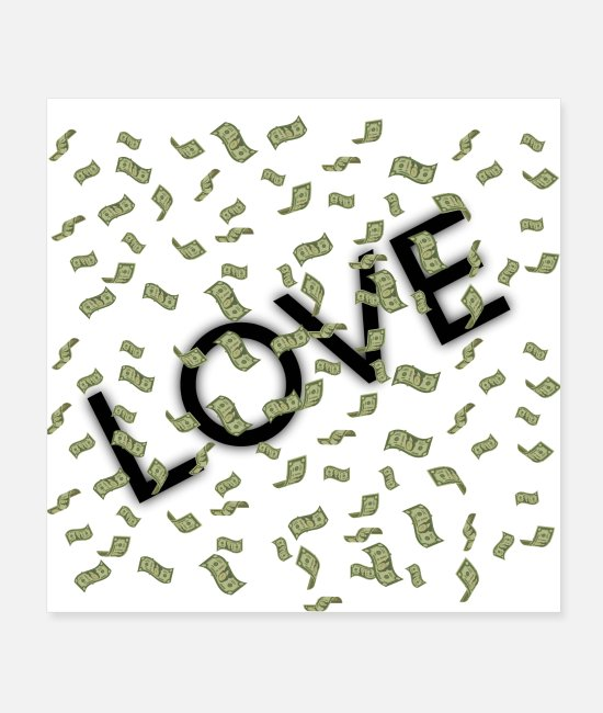 Heart Posters - Money - Posters white