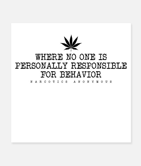 Personal Posters - Where No One Is Personally Narcotics Anonymous - Posters white