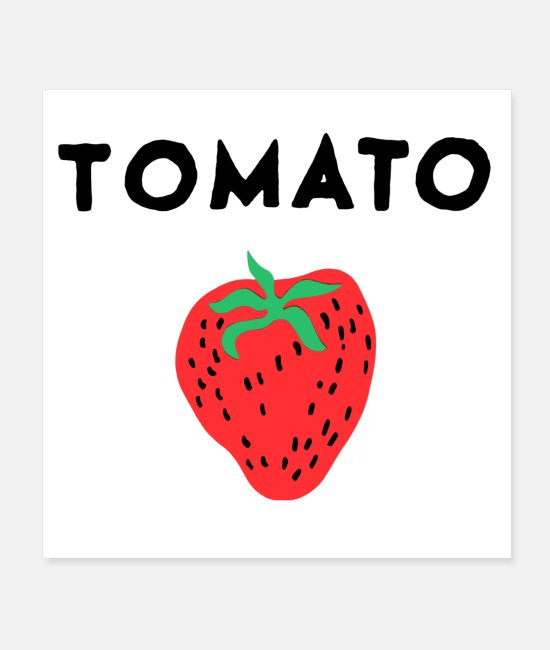 Burger Posters - Tomato Strawberry - Posters white