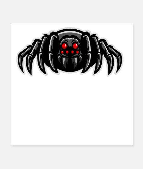 Black Metal Posters - BLACK FOREST SPIDER - Posters white