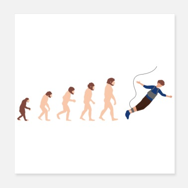 Roped Evolution Bungee Jumping Funny Gift Idea - Poster