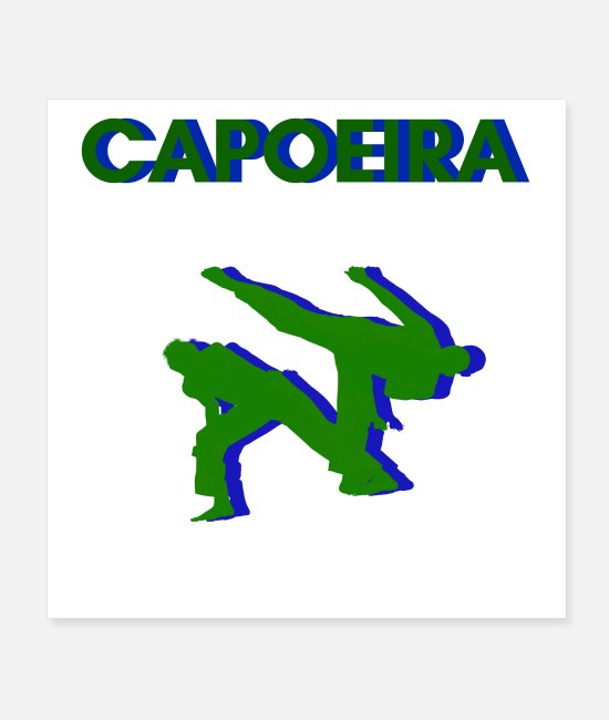 South America Posters - Capoeira Fight In Action - Posters white