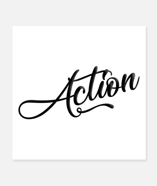 Quote Posters - Action - Posters white