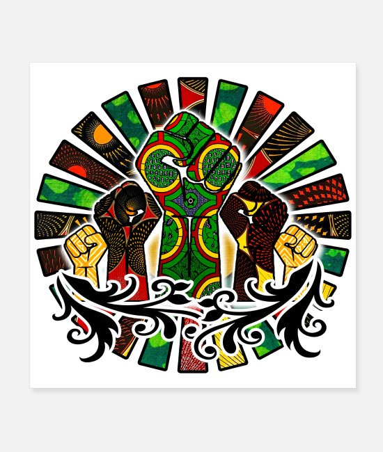 Together We Stand Posters - Rasta Style Unity - Posters white