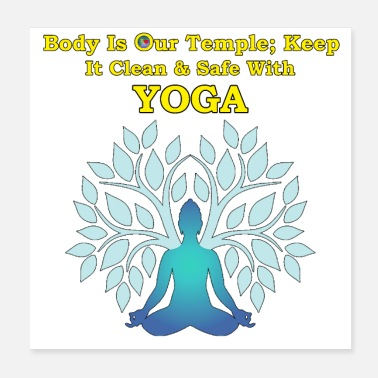 Yoga clean & safe Body as Temple - Poster