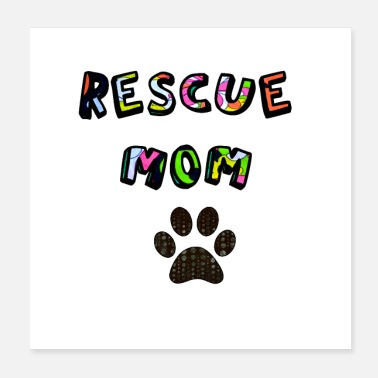 Rescue Rescue Mom Retro Design - Poster