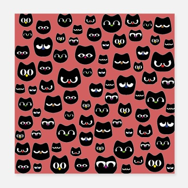 Funny cat faces - Poster