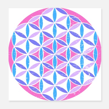 Sacred Sacred Geometry Flower of Life - Poster