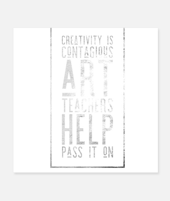 Artist Posters - creative art teacher appreciation - Posters white