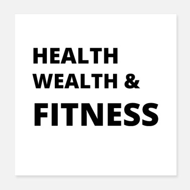 Wealth Health Wealth and Fitness - Poster