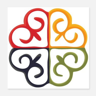 African Symbol Pan-Africanism Adinkra symbol of God's Tree. - Poster