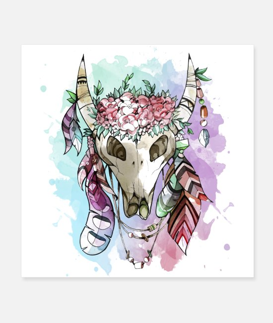 Animal Welfare Posters - Animal skull - Posters white